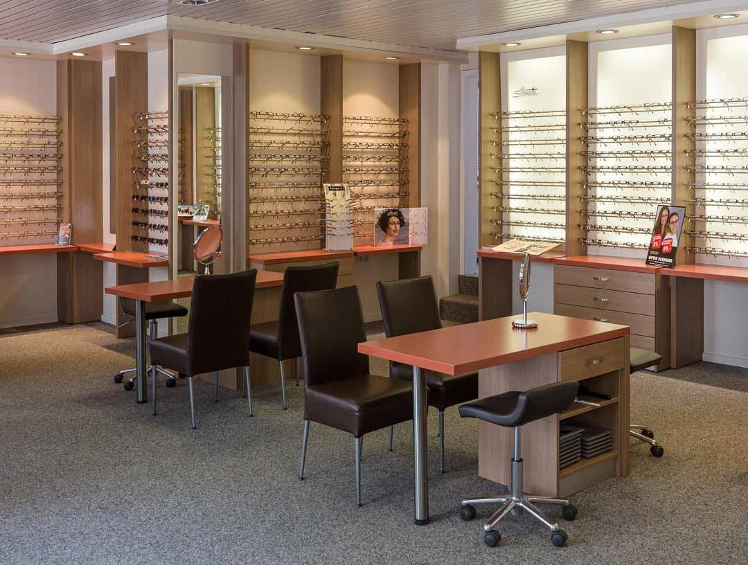 Geschäftsräume der Firma Optik Schnurr aus Pfungstadt.